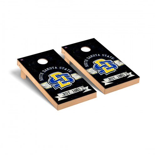 South Dakota State Jackrabbits Banner Vintage Cornhole Game Set