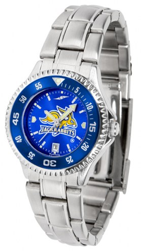 South Dakota State Jackrabbits Competitor Steel AnoChrome Women's Watch - Color Bezel