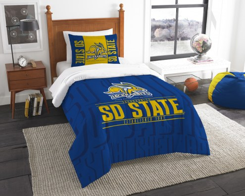 South Dakota State Jackrabbits Modern Take Twin Comforter Set