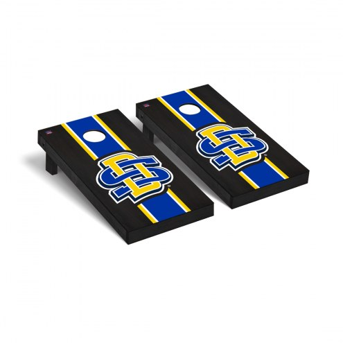 South Dakota State Jackrabbits Onyx Stained Logo Cornhole Game Set