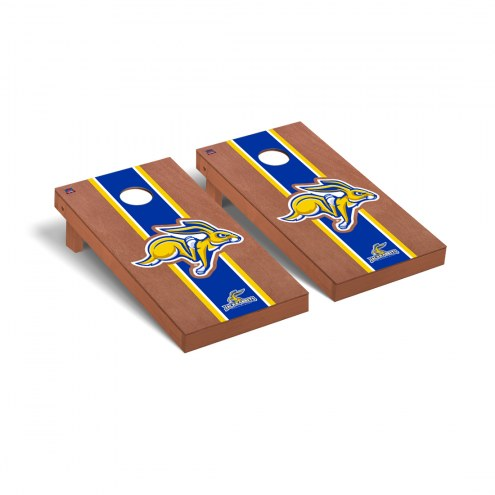 South Dakota State Jackrabbits Rosewood Stained Cornhole Game Set
