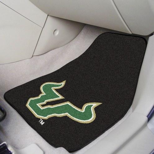 South Florida Bulls 2-Piece Carpet Car Mats