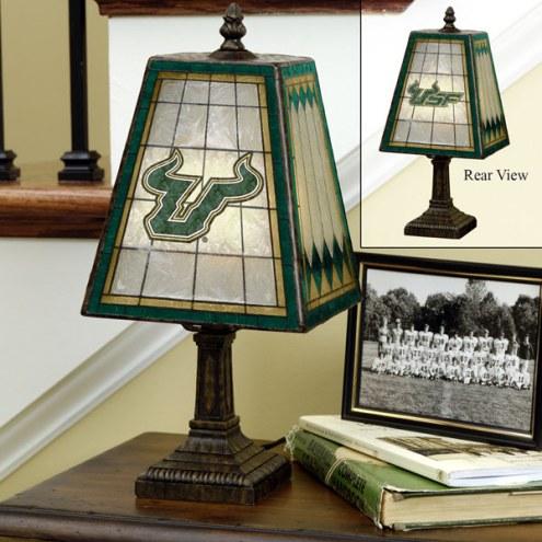 South Florida Bulls Art Glass Table Lamp