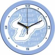 South Florida Bulls Baby Blue Wall Clock
