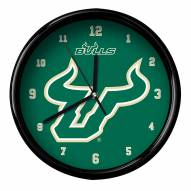 South Florida Bulls Black Rim Clock