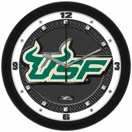 South Florida Bulls Carbon Fiber Wall Clock
