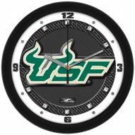 South Florida Bulls Carbon Fiber Wall Clock
