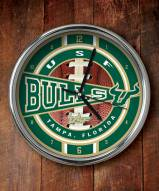 South Florida Bulls Chrome Wall Clock