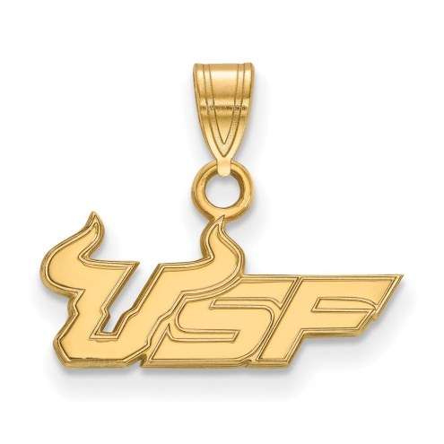 South Florida Bulls College Sterling Silver Gold Plated Small Pendant