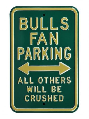 South Florida Bulls Crushed Parking Sign