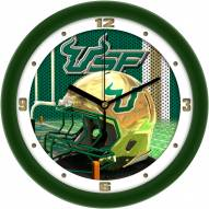 South Florida Bulls Football Helmet Wall Clock