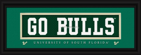 "South Florida Bulls ""Go Bulls"" Stitched Jersey Framed Print"