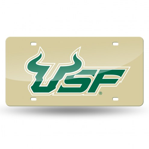 South Florida Bulls Gold Laser Cut License Plate