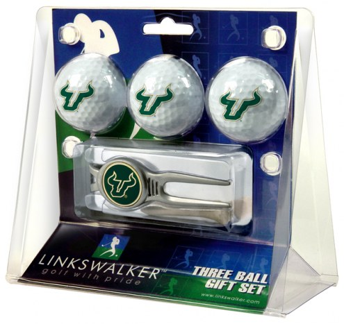 South Florida Bulls Golf Ball Gift Pack with Kool Tool