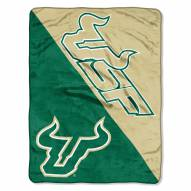 South Florida Bulls Halftone Raschel Blanket