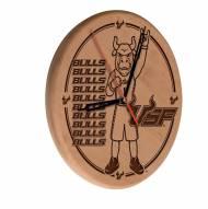 South Florida Bulls Laser Engraved Wood Clock