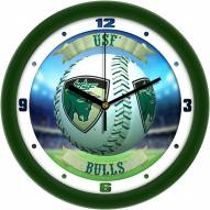 South Florida Bulls Home Run Wall Clock