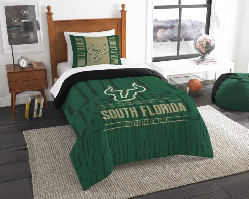 South Florida Bulls Modern Take Twin Comforter Set