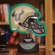 South Florida Bulls Neon Helmet Desk Lamp