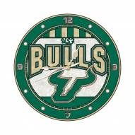 USF Bulls NCAA Stained Glass Wall Clock