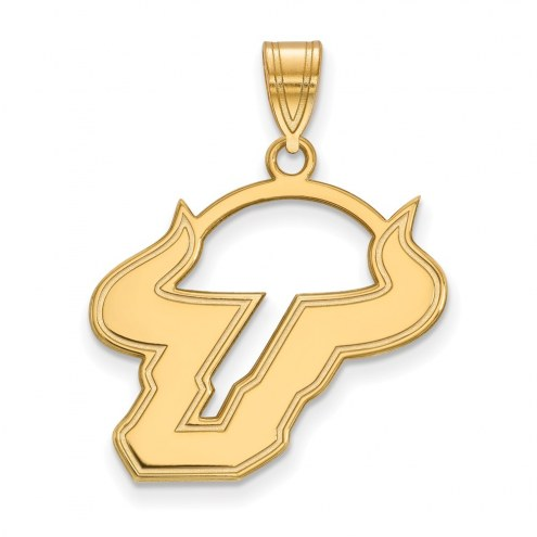 South Florida Bulls NCAA Sterling Silver Gold Plated Large Pendant