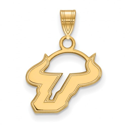 South Florida Bulls NCAA Sterling Silver Gold Plated Small Pendant