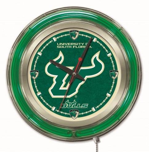South Florida Bulls Neon Clock