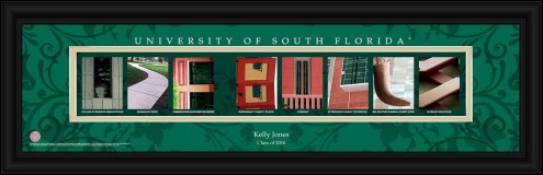 South Florida Bulls Personalized Campus Letter Art
