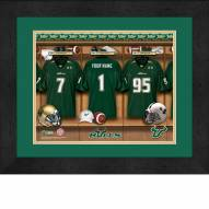 South Florida Bulls Personalized Locker Room 13 x 16 Framed Photograph
