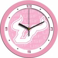 South Florida Bulls Pink Wall Clock