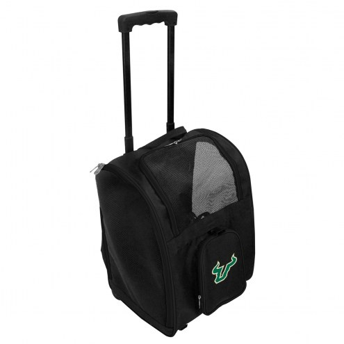 South Florida Bulls Premium Pet Carrier with Wheels
