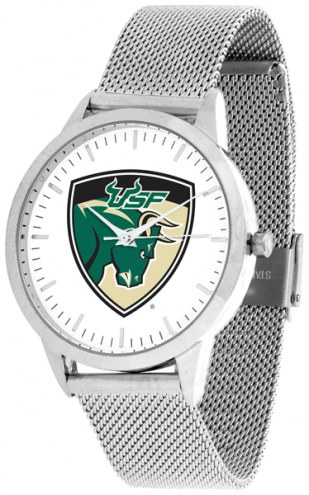 South Florida Bulls Silver Mesh Statement Watch