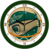 South Florida Bulls Slam Dunk Wall Clock