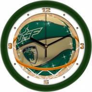 South Florida Bulls Slam Dunk Wall Clock