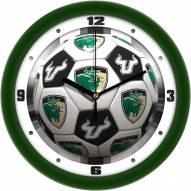 South Florida Bulls Soccer Wall Clock