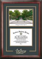 South Florida Bulls Spirit Diploma Frame with Campus Image