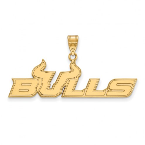 South Florida Bulls Sterling Silver Gold Plated Large Pendant