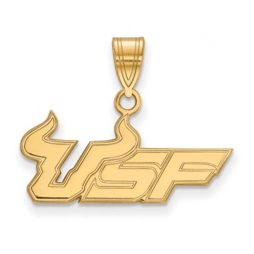 South Florida Bulls Sterling Silver Gold Plated Medium Pendant