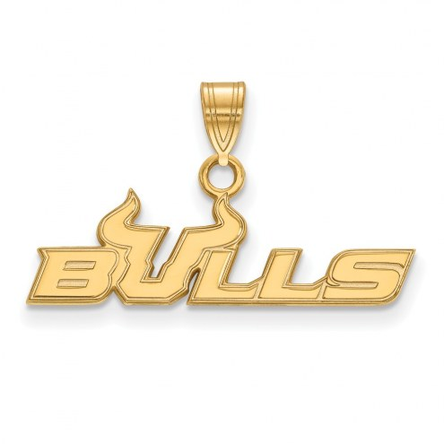 South Florida Bulls Sterling Silver Gold Plated Small Pendant