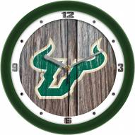 South Florida Bulls Weathered Wood Wall Clock