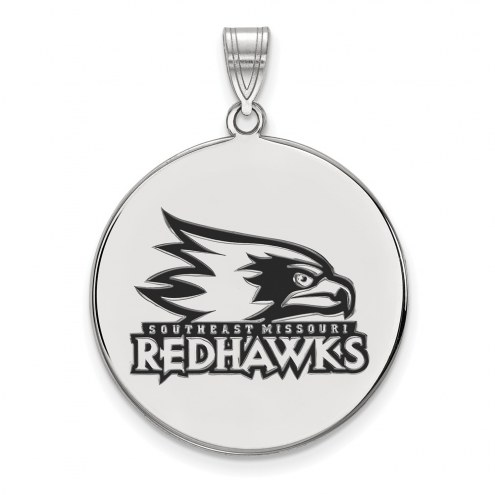 Southeast Missouri State Redhawks Sterling Silver Extra Large Enameled Disc Pendant