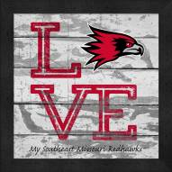 Southeast Missouri State Redhawks Love My Team Square Wall Decor