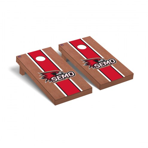 Southeast Missouri State Redhawks Rosewood Stained Stripe Cornhole Game Set