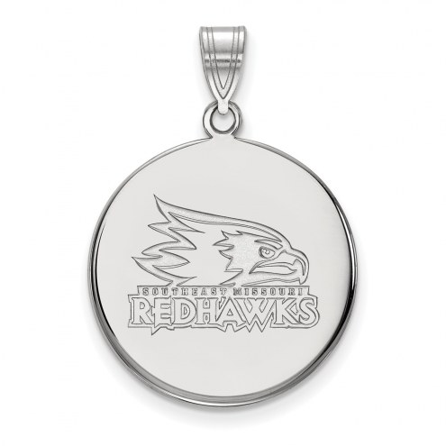 Southeast Missouri State Redhawks Sterling Silver Large Disc Pendant