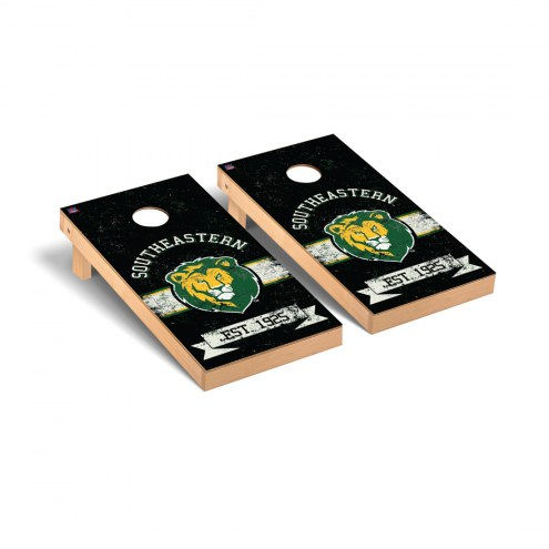 Southeastern Louisiana Lions Banner Cornhole Game Set