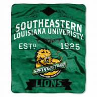 Southeastern Louisiana Lions Label Raschel Throw Blanket