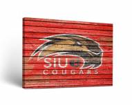 Southern Illinois Edwardsville Cougars Weathered Canvas Wall Art