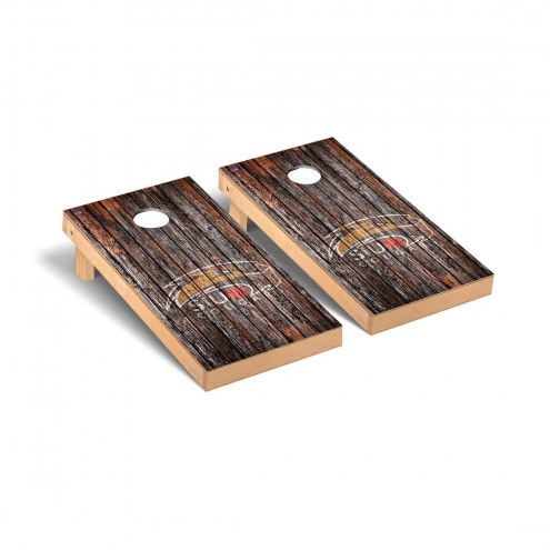 Southern Illinois Edwardsville Cougars Weathered Cornhole Game Set