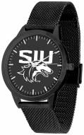 Southern Illinois Salukis Black Dial Mesh Statement Watch