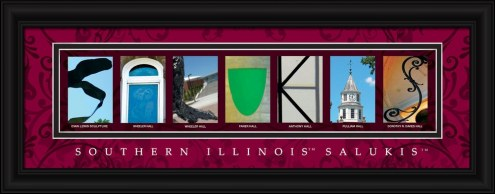 Southern Illinois Salukis Campus Letter Art